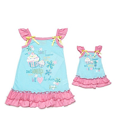 Sweet Heart Rose for Dollie & Me 2-10 Flutter Tank Gown