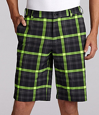 Nike Golf Plaid Flat Front Shorts