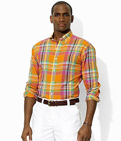 Polo Ralph Lauren Custom-Fit Madras Plaid Twill Sportshirt