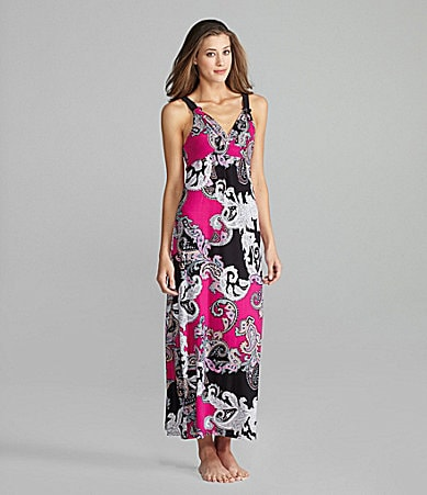Half Moon Eclipse by Modern Movement Boho Paisley Lounge Maxi Dress