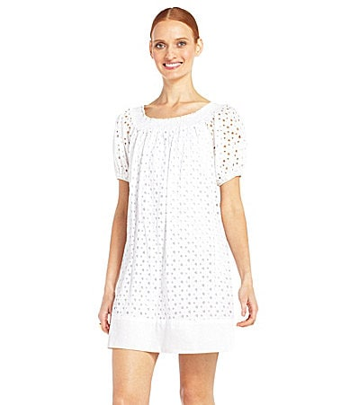 Max and Cleo Eyelet Shift Dress