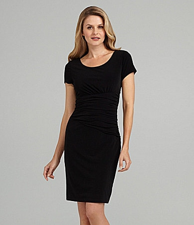 Max and Cleo Cap-Sleeve Jersey Dress