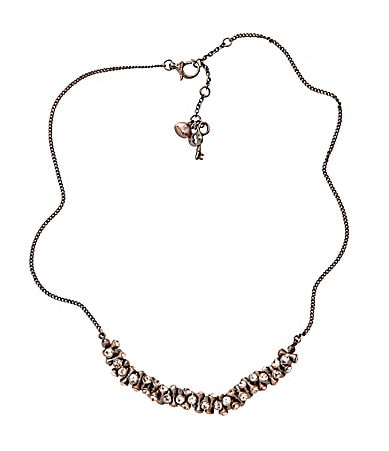 Fossil Crystal Beaded Frontal Necklace