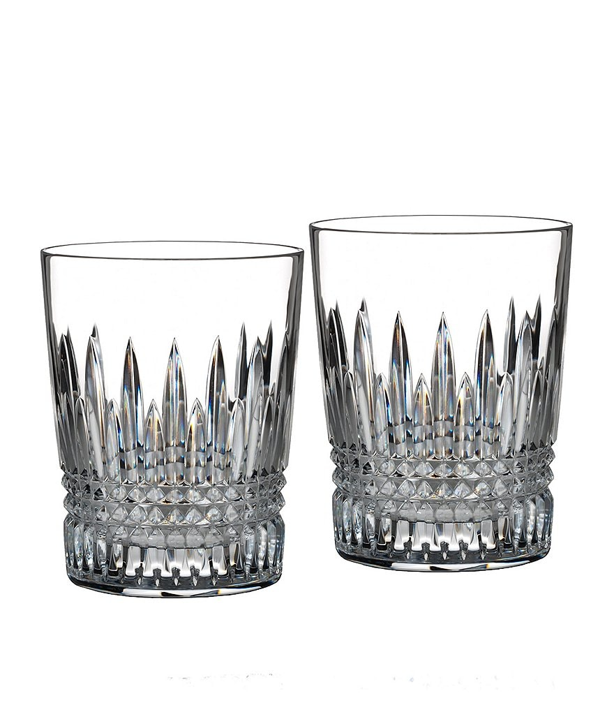 Waterford Crystal Lismore Diamond Double Old Fashioned, Pair