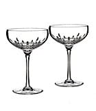 Waterford Lismore 60th Anniversary Collection Lismore Essence Champagne Saucer Pair