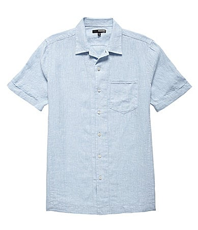 Murano Linen Fitted Solid Camp Shirt
