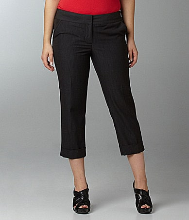 M.S.S.P. Woman Cuffed Skinny Cropped Pants