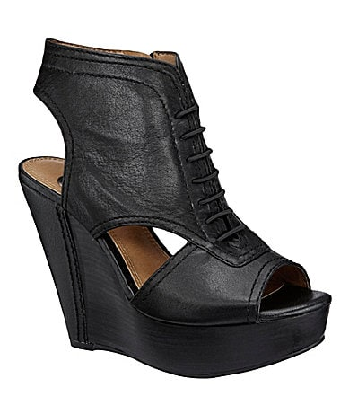 GB Gianni Bini My-Scene Lace Up Wedges