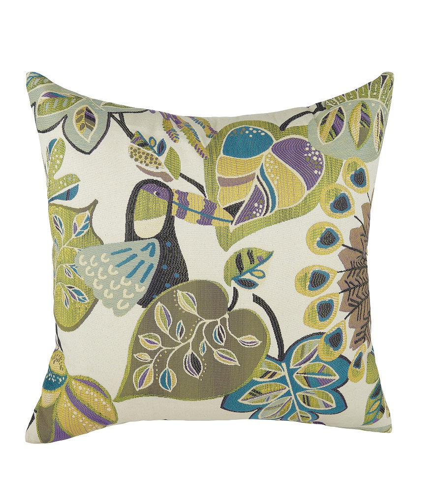 Brentwood Originals Chirpy Grape Decorative Pillow