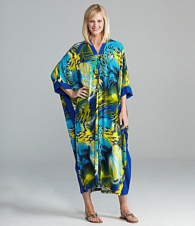 Diamond Tea Printed Long Zip Robe