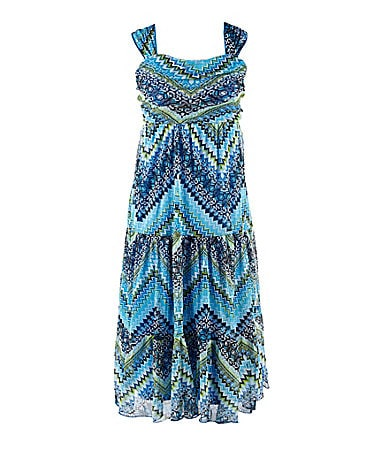 I.N. Girl 7-16 Printed Maxi Dress