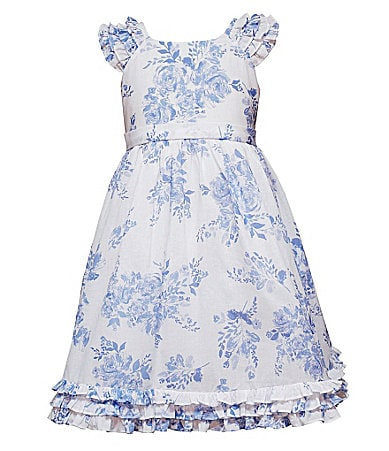 Rare Editions 2T-6X Floral Toile Dress