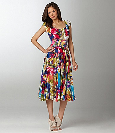 Chelsea & Theodore Floral Printed Dress