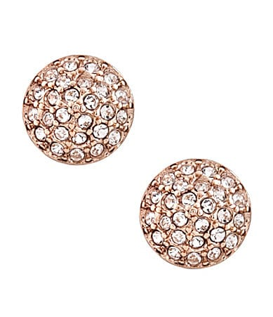Vince Camuto Rose Goldtone Pave Stud Earrings