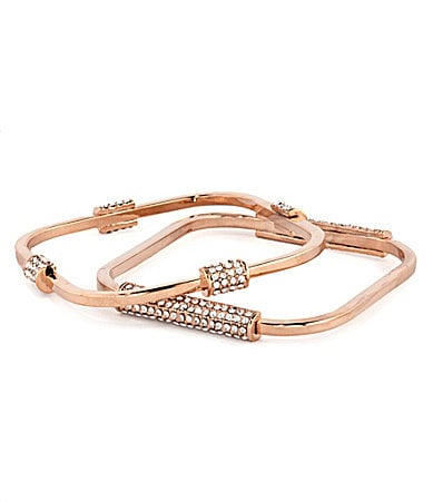 Vince Camuto Rose Goldtone Square Bangle Bracelet