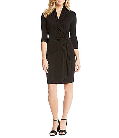 Black Wrap Dress on Karen Kane Wrap Dress   Dillards Com
