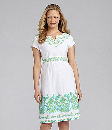 Sharon Young A-Line Embroidered Dress