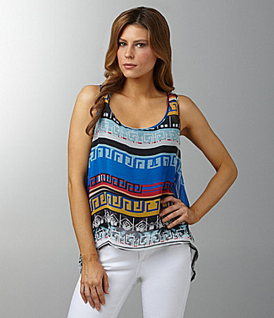 Awake Embellished Tribal-Print Top