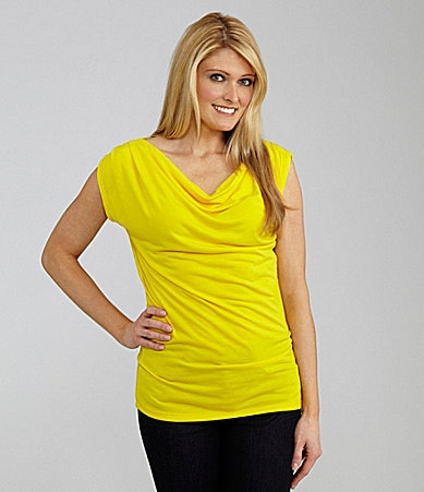 Peter Nygard Draped Neck Knit Top