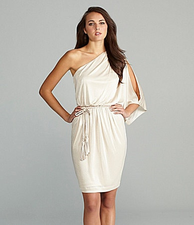 Maggy London One-Shoulder Dress