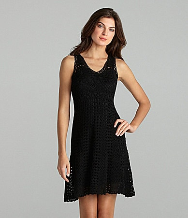 Maggy London Sleeveless Crochet Dress