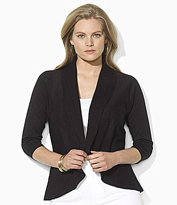 Lauren by Ralph Lauren Woman Cotton Circle Cardigan