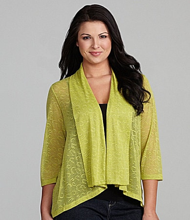 Ruby Rd. Woman Shawl Collar Knit Cardigan