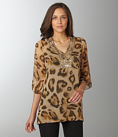 Faith Lillian Leopard Print Tunic