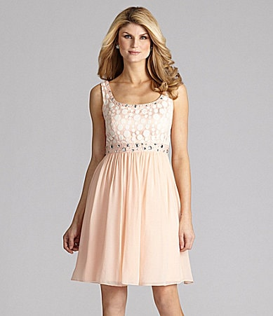 Antonio Melani Splenda Lace-Chiffon Dress