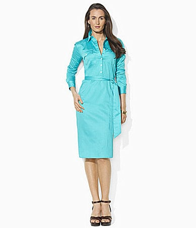 Lauren Ralph Lauren Petites Cotton Sateen Shirtdress