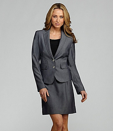 AK Anne Klein Twill Jacket & Skirt