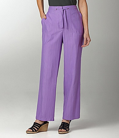 Allison Daley Petites Crinkle-Pull-On Drawstring Pants