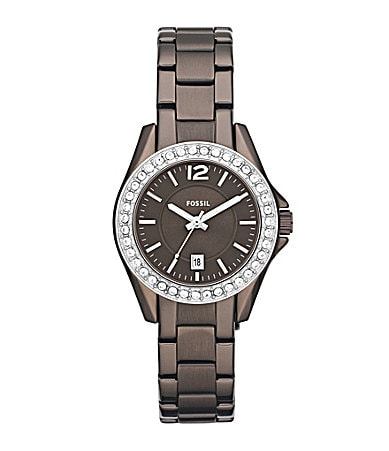 Fossil Mini Riley Brown Ladies Glitz Watch