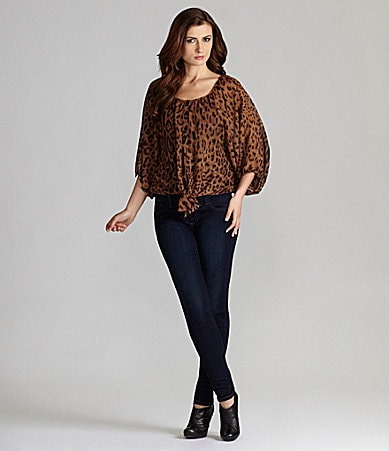 Gianni Bini Sienna Blouse & My BFF Denim Jeggings
