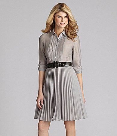 Antonio Melani Fernanda Pinstripe Belted Dress