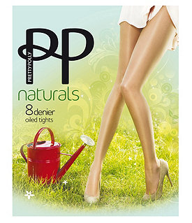 Pretty Polly Oiled Naturals Sheen Pantyhose Image