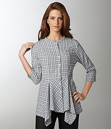 Niche Horizon Plaid Blouse