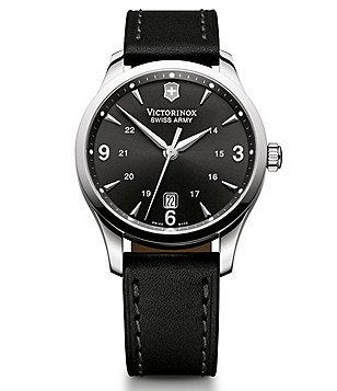Victorinox Swiss Army Alliance Men´s Black Leather Watch