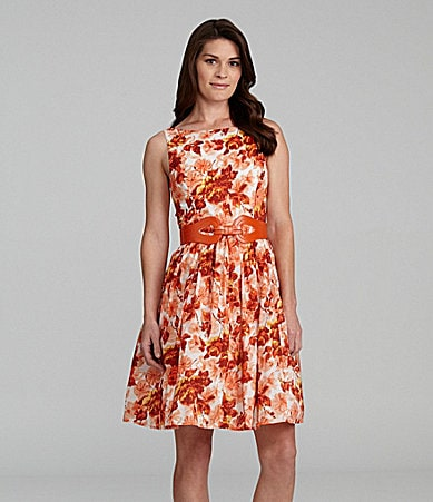 Jessica Howard Petites Floral Print Dress