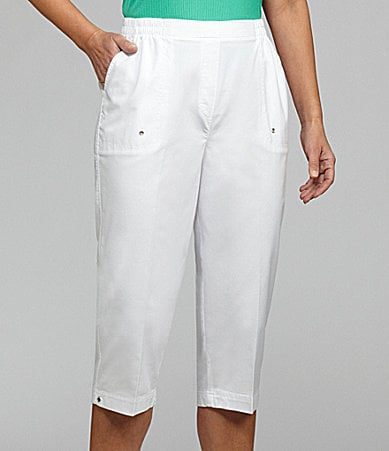 Allison Daley Petites Pull-On Drawstring Capri Pants