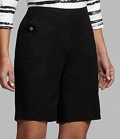 Allison Daley Canvas Pull-On Shorts