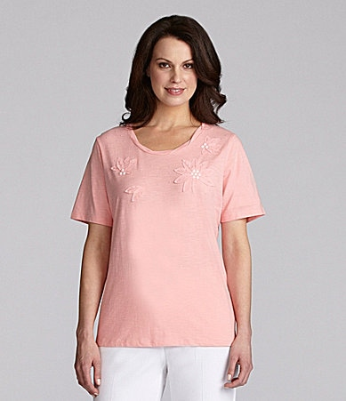 TanJay Twist-Neck Applique Top