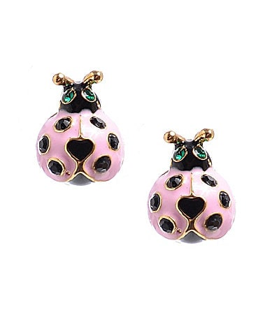 Betsey Johnson Hawaiian Luau Ladybug Stud Earrings