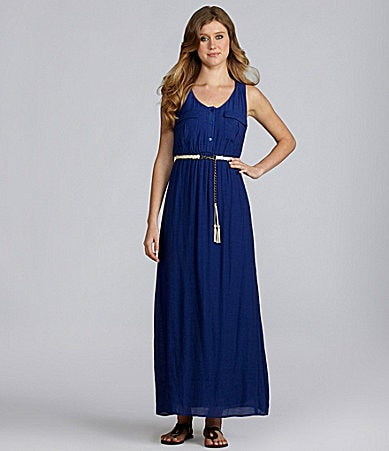 I.N. San Francisco Belted Maxi Dress