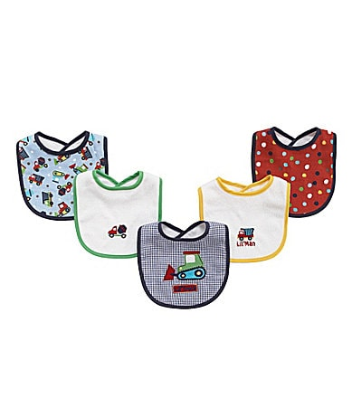 Baby Essentials Transportation 5-Piece Bib Set