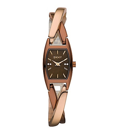 DKNY Essentials Two-Tone Twist Bracelet Watch
