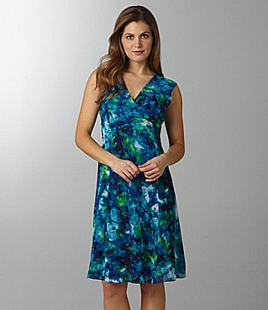 Jones New York Collection Floral-Print Dress