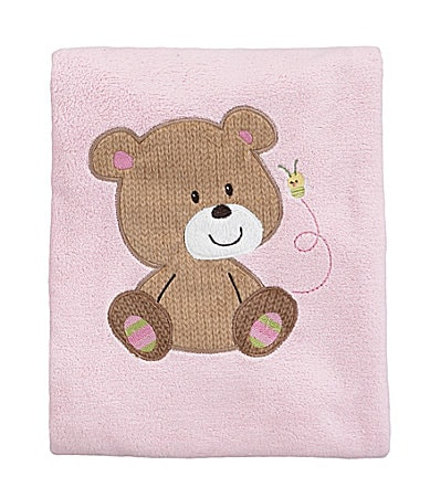 Baby Starters Girl Bear Plush Blanket