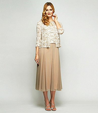 Alex Evenings Woman Lace Bolero Jacket Dress