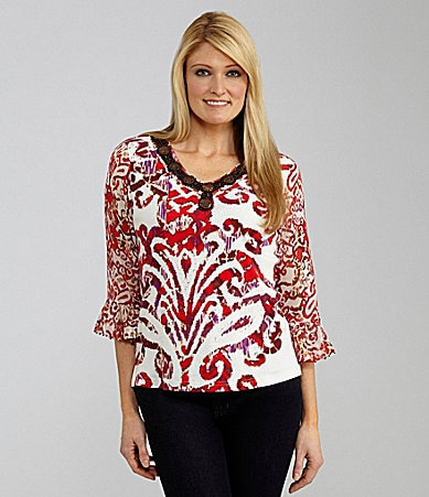 Multiples Petites Embellished Knit Top
